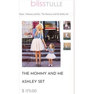 Mommy and Me Ashley Tulle Skirt Set